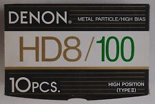 DENON: HD8 100 Metal Particle High Bias JAPAN Blank Cassettes NOS Sealed