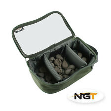 NEW NGT CARP TACKLE LEAD/ ACCESSORY CLEAR TOP BAG 3 COMPARTMENT NGT FISHING