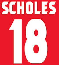 Manchester United Scholes Nameset Shirt Soccer Number Letter Heat Football Home