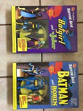 The Classic Silver Age Batman And Robin Figure Batgirl And Joker Figure Lot
