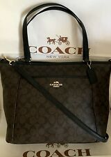 COACH PEYTON SIGNATURE POCKET TOTE F33998 Brown/Black NWT MSRP $395