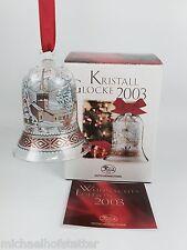 Hutschenreuther Glasglocke Kristall Glocke Weihnachtsglocke 2003 mit Verpackung