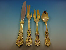 Francis I by Reed and Barton Sterling Silver Flatware Service 12 Set Gold 48 pcs