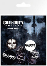 CALL OF DUTY GHOSTS  - 6 BUTTON OFFICIAL BADGE PACK SET OF 4 x 25mm +2 x 32mm