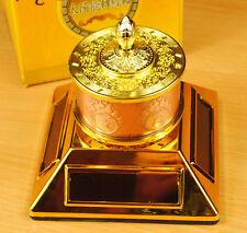 Solar or Battery Prayer Wheel Feng Shui Mount on Desk or Car Tibetan Buddhiat