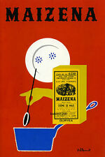BERNARD VILLEMOT HIGH QUALITY RETRO VINTAGE MAIZENA ADVERTISING POSTER PRINT