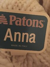 BNWT PATONS ANNA WOOL BLEND YARN 10x 54y/50g BALLS MADE IN ITALY SAND COLOUR