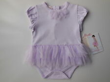 New baby girl Biscotti lilac tutu romper clothes size 00 Fits 6 mths *Gift Idea*
