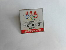 Cool 2008 USA Road to Beijing China Supporter Olympic Games Pin Pinback