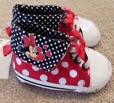 ADORABLE! NEW DISNEY SIZE 2 POLKA DOT MINNIE MOUSE SHOES ADORABLE