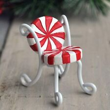 Mini Candy Cane Chair set /2  Dollhouse Miniature Fairy Gnome Garden 16690