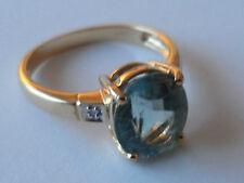 BEAUTIFUL 18K YELLOW GOLD PARAIBA TOURMALINE DIAMOND GOLD RING 2.08CT EYE CLEAN.