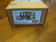 Vintage Fisher Price Little People Mini Bus Pampers promotional mail in box NEW