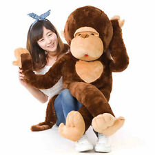 110CM Brown Cute Monkey Big Soft Stuffed Plush Huge Doll Toy 100% Cotton Gift
