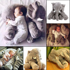 Baby Kids Long Nose Elephant Doll Soft Plush Stuffed Toys Lumbar Cushion Pillow