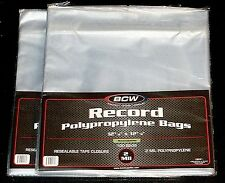 "200 RESEALABLE LP OUTER SLEEVES BCW Clear 12"" Vinyl Record Album Covers 33 RPM"