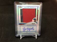 2014 TOPPS CHROME JASON HEYWARD AUTOGRAPH AUTO GAME USED JERSEY 2/10