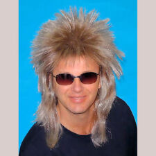 80's Spiky Poita Blonde Mullet Rod Stewart WIG Men's Rock Star Costume Wig