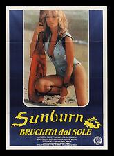 SUNBURN * CineMasterpieces ITALIAN ITALY MOVIE POSTER FARRAH FAWCETT