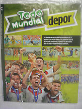 TODO MUNDIAL BRAZIL 2014 WORLD CUP, COMPLETE GUIDE - DEPOR, SPANISH, NEW SEALED.