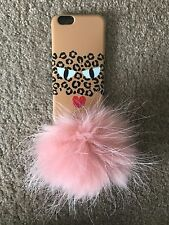 Fabulous Iphoria Leopard with Pink Puff iPhone 6 Case in Excellent Condition!!!