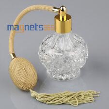 Glas Parfümzerstäuber schöner Parfümflakon 85 ml Pumpe + Trichter Nachfüllbar