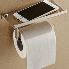 Bathroom Toilet Paper Phone Holder with Shelf household tool Stainless Steel