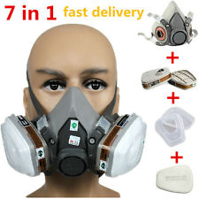 top A+ 3M 6200 6001 7 in 1 Suit Respirator Painting Spraying Face Gas Mask 5N11
