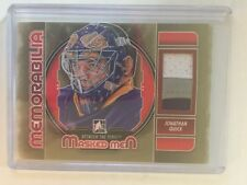 2012-13 Between The Pipes Jonathan Quick 1/1 Patch Memorabilia Gold Version