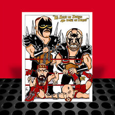 THE ROAD WARRIORS Hawk & Animal ART, legion of doom, nwa, wwf wwe, artist signed