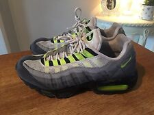 Nike Air Max 95 110 Size 8 Grey & Florescent Yellow