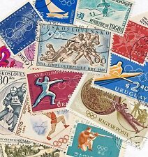 Olympics Collection - 14 Stamps from 7 Countries, Commemorating 9+ Sports