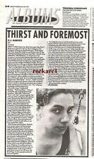 PJ HARVEY Dry  album review 1992 UK newsprint  article/clipping 10x7""