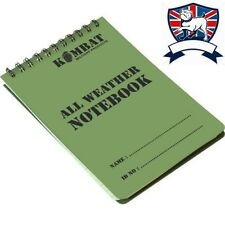 BRITISH ALL WEATHER A6 WATERPROOF NOTEBOOK 50 GRIDDED NOTEPAD PAGE HIKE CADET