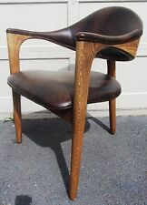 RARE! VINTAGE MID CENTURY DANISH MODERN CAROLINA SEATING COMPANY 3 LEGGED CHAIR