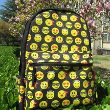 Emoji Backpacks Boys Shoulder Bags Teenage Girls Smiley Face Kids School Daypack