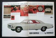 1966 Chevrolet 66 Chevelle SS large General Motors car ad print gift 1967
