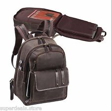 Bellino Tuscany Full Grain Leather Computer Vintage Backpack - AP6835