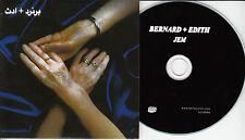 BERNARD + EDITH Jem 2015 UK 13-trk promo test CD Bella Union
