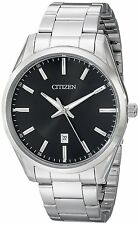 Citizen BI1030-53E Men's Stainless Steel Black Dial Japanese Quartz Watch