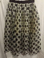 Reem Acra Silk Polka Dot Pleated Skirt Harvey Nichols Size 4US