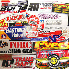 Large Lot 25 Racing Window Decals Stickers NHRA Nascar CHevy Ford Mopar Grab Bag
