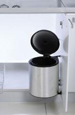 Einbau Abfallsammler Rondo 2, silber, 11 Liter, Küchen Schwenk Abfalleimer