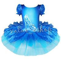 Kid Girl Leotard Dress Ballet/Dance/Gymnastic Tutu Skirt Dancewear Costume 2-10Y
