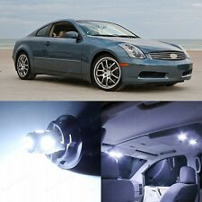 11 x Xenon White LED Interior Light and Plate Package For 2003-2006 Infiniti G35