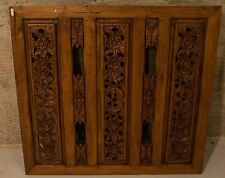 Antique Asian Hand Carved Wood Panel!! Art Deco.