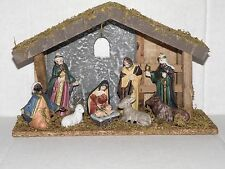 CHRISTMAS NATIVITY MANGER SET NEW PERFECT SIZE TO LIGHT UP UNDER YOUR TREE!!