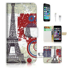 iPhone 7 PLUS (5.5') Flip Wallet Case Cover P0639 Paris Eiffel