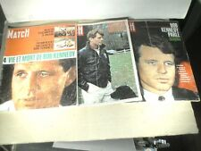 3 PARIS MATCH : 1964 & 1968 SUR BOB KENNEDY
