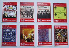 Set of 8 BEATLES RARITIES trade cards - RED 'Fan Club Christmas Records' - gift